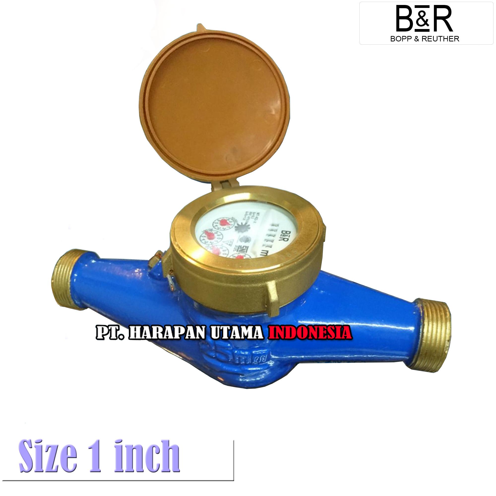 Lxlc Size 1 Inch Distributor Water Flow Meter Br Indonesia Sensor Kuningan Type 25mm Bahan